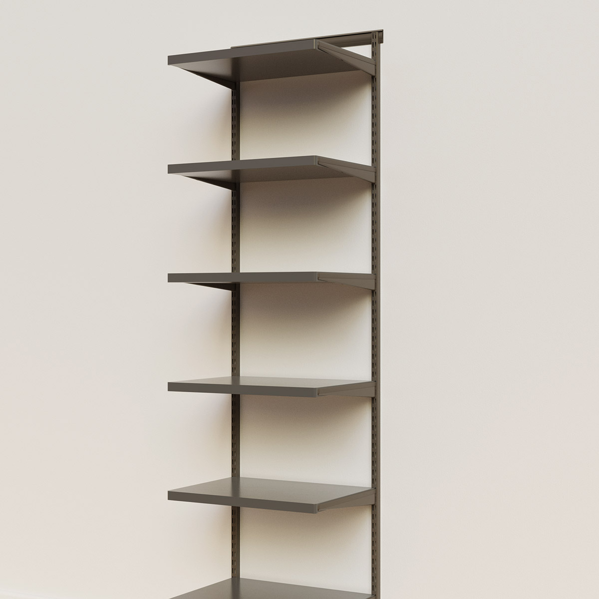 Elfa Décor 2' Graphite & Grey Basic Shelving Units for Anywhere