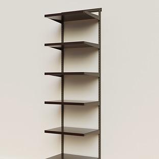 Elfa Décor 2' Graphite & Walnut Basic Shelving Units for Anywhere