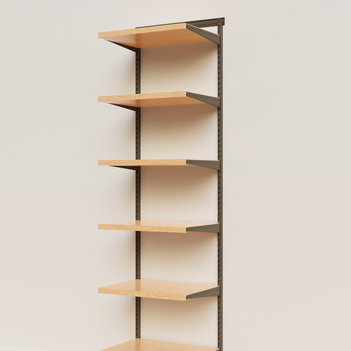 Elfa Décor 2' Graphite & Birch Basic Shelving Units for Anywhere