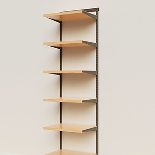 Elfa Décor 2' Graphite & Birch Basic Shelving Units for Anywhere