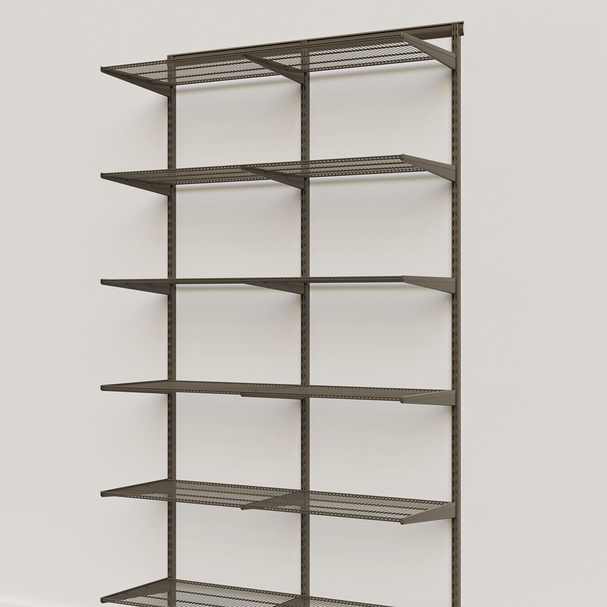 Elfa Classic Graphite 4' Basic Shelving Units for Anywhere