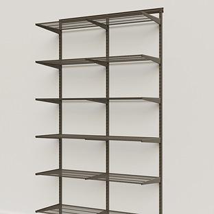 Elfa Classic Graphite 4' Basic Shelving Units for Anywhere