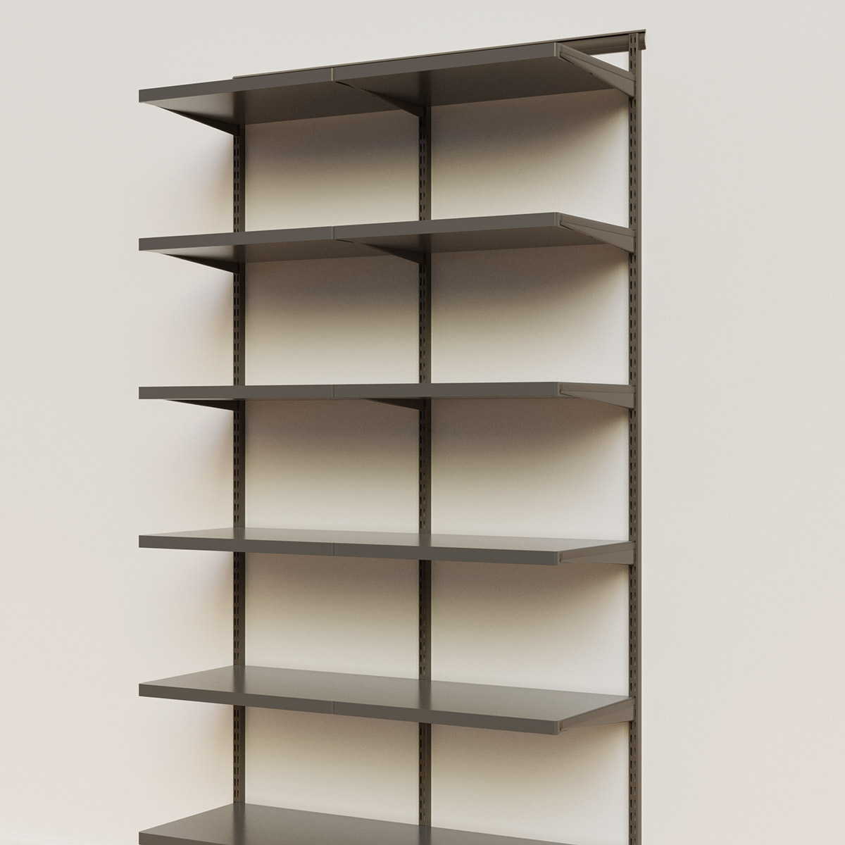 Elfa Décor 4' Graphite & Grey Basic Shelving Units for Anywhere