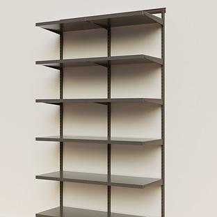 Elfa Décor 4' Graphite & Grey Basic Shelving Units for Anywhere