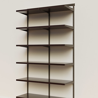 Elfa Décor 4' Graphite & Walnut Basic Shelving Units for Anywhere