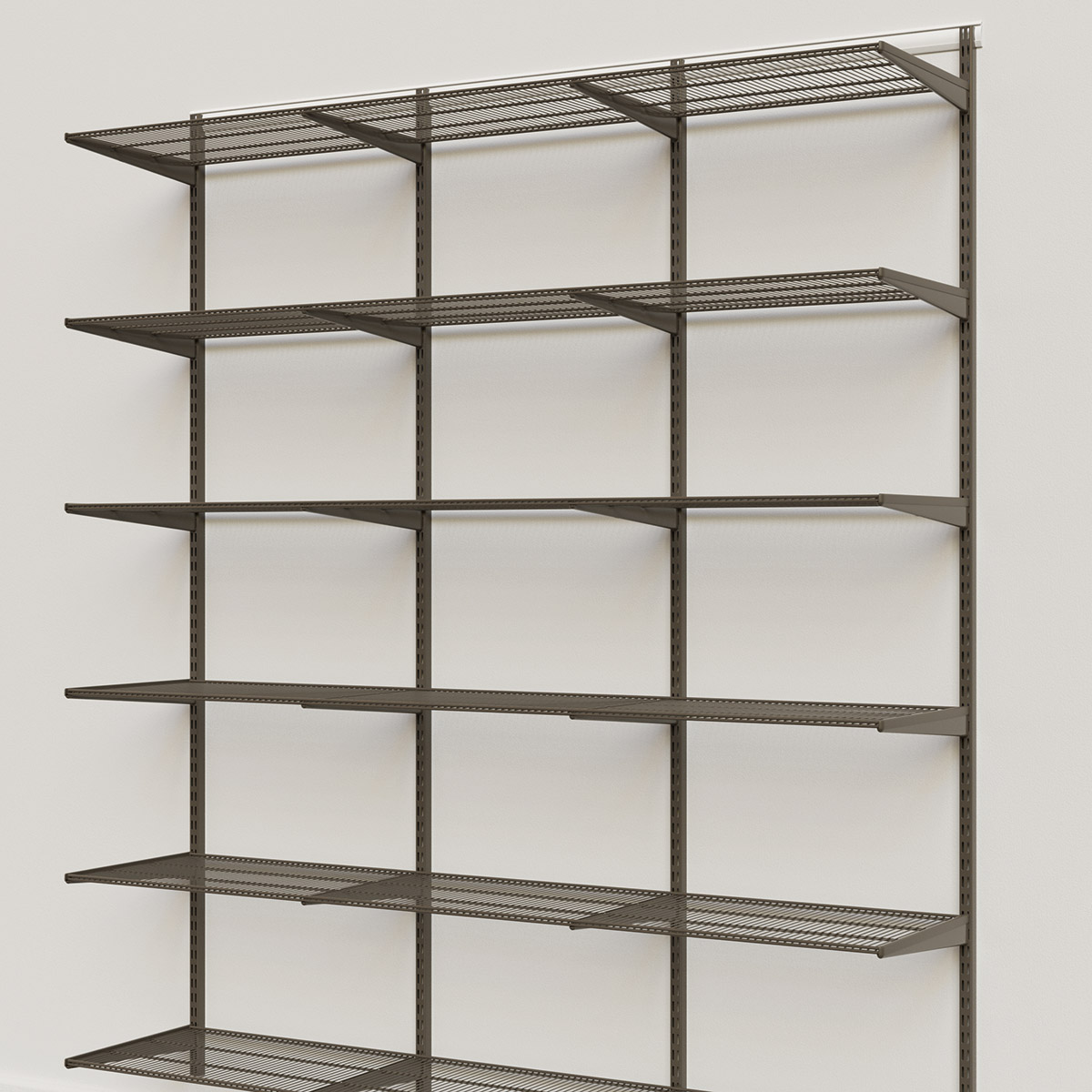 Elfa Classic Graphite 6' Basic Shelving Units for Anywhere