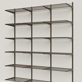Elfa Classic Graphite 6' Basic Shelving Units for Anywhere
