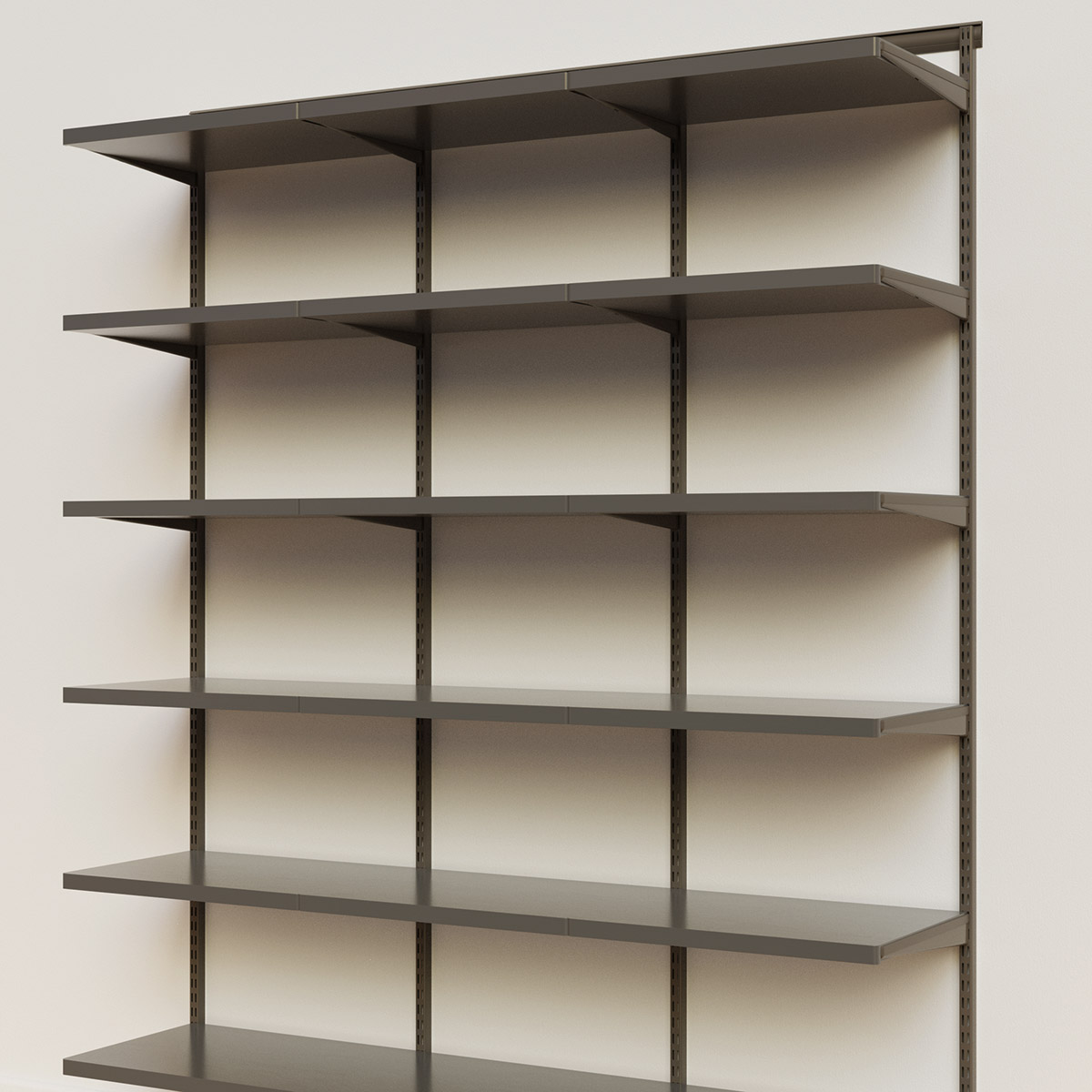 Elfa Décor 6' Graphite & Grey Basic Shelving Units for Anywhere