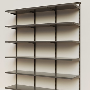 Elfa Décor 6' Graphite & Grey Basic Shelving Units for Anywhere