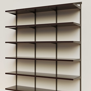 Elfa Décor 6' Graphite & Walnut Basic Shelving Units for Anywhere