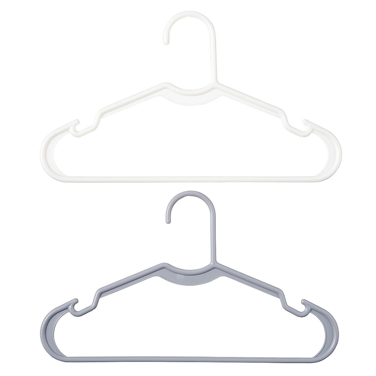 Kids' White Tubular Hangers