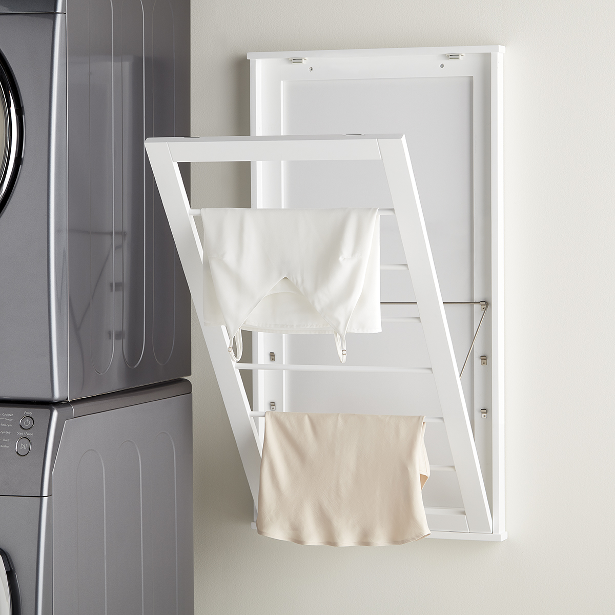 6-Tier Adjustable Wall-Mounted Drying Rack