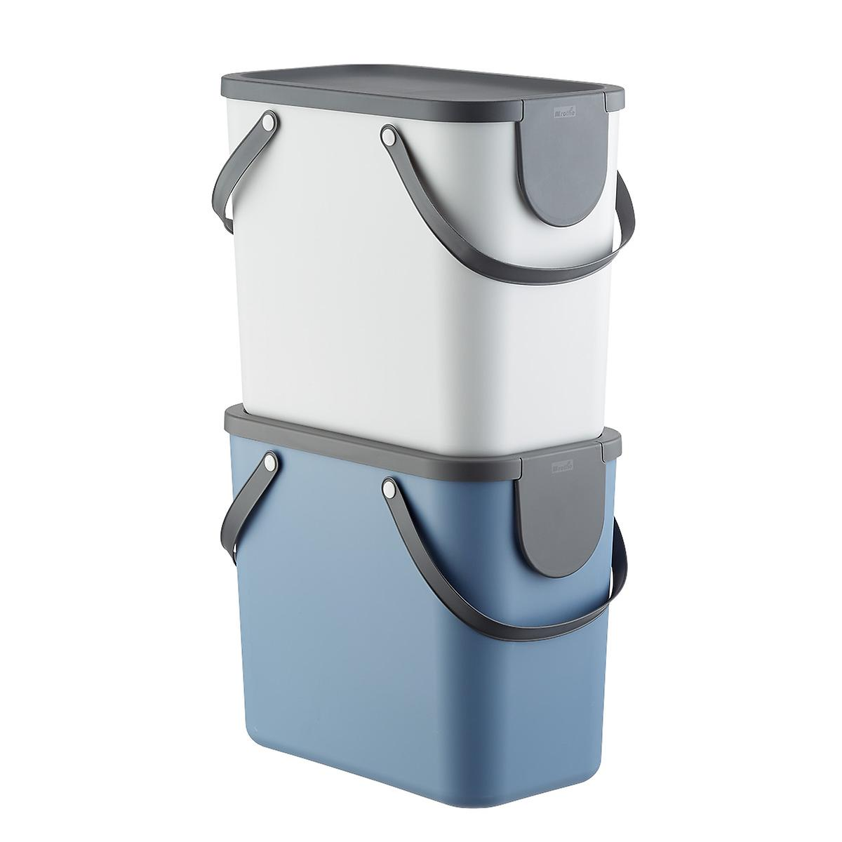 Stacking 6.6 gal. Recycling Bin with Lid