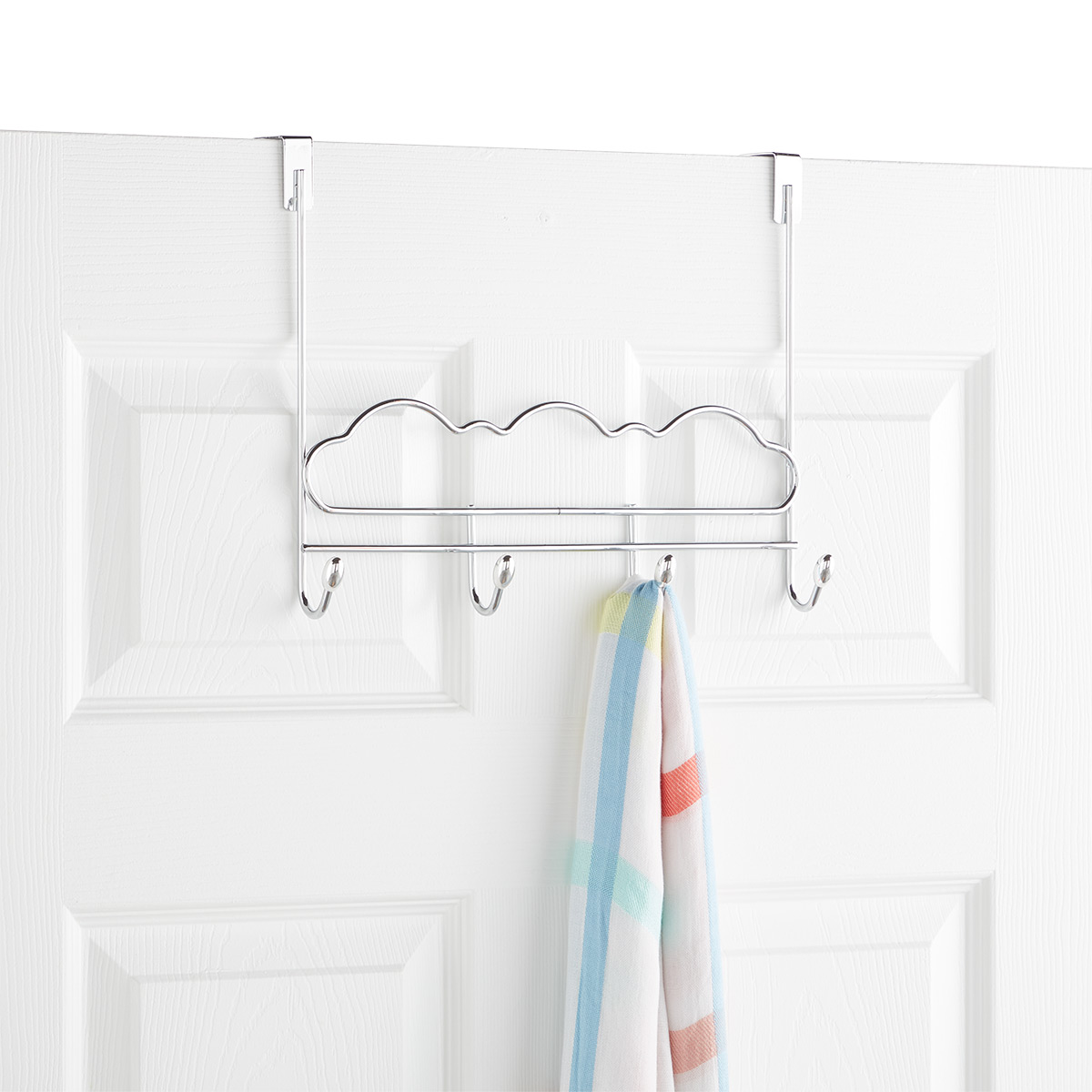 Cloud Chrome Over the Door 4 Hook Rack