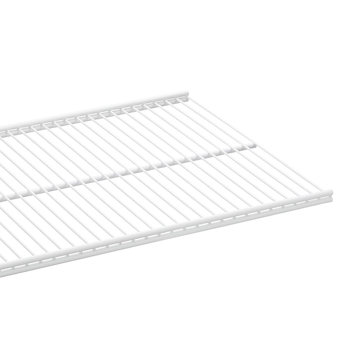 White Elfa Ventilated Wire Shelves