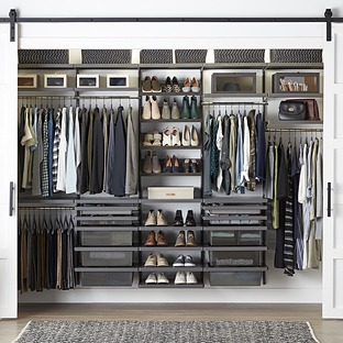 Elfa Decor 10' Graphite Reach-In Closet