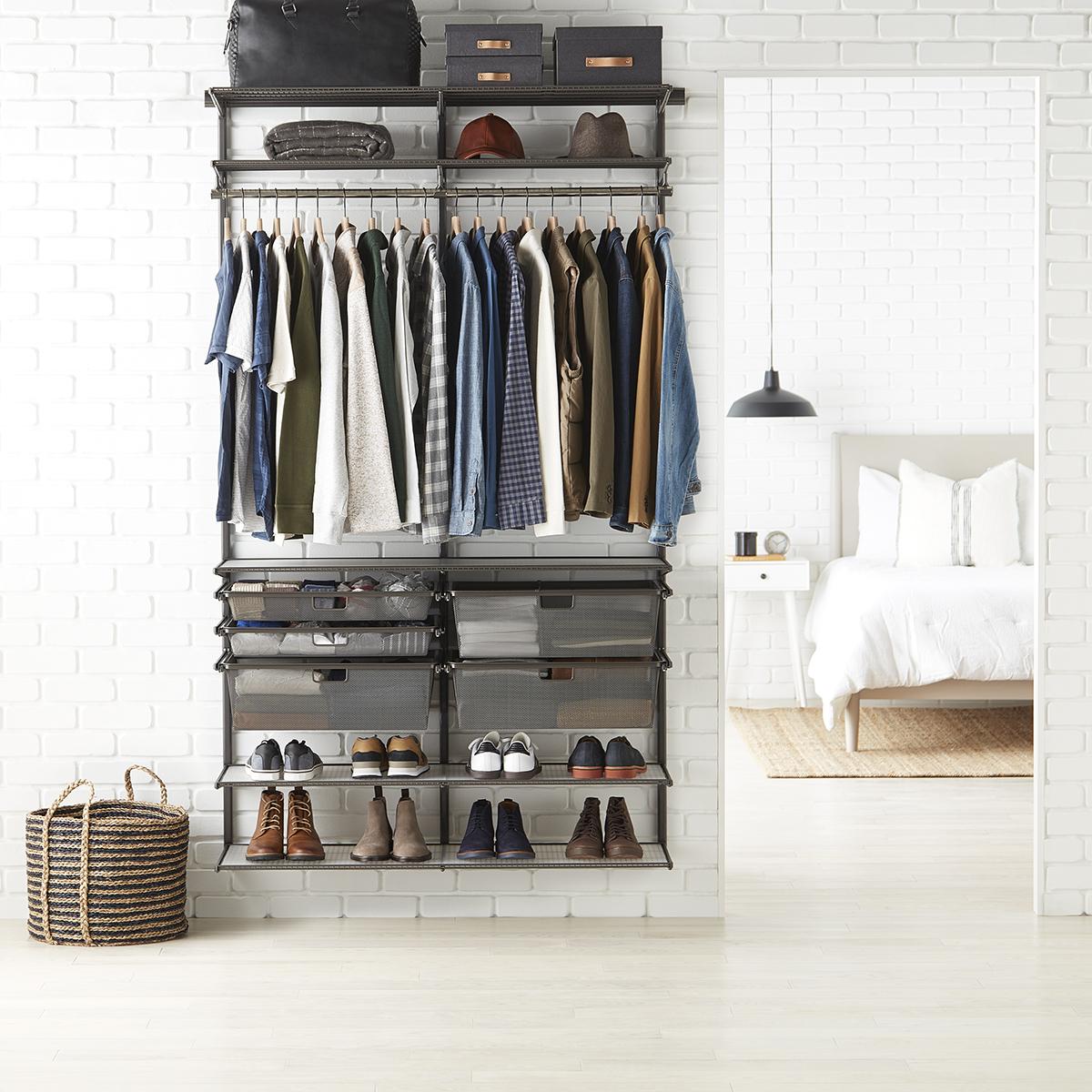 Elfa Classic 4' Graphite Closet
