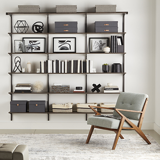 Elfa Classic Graphite & Driftwood Bookshelf