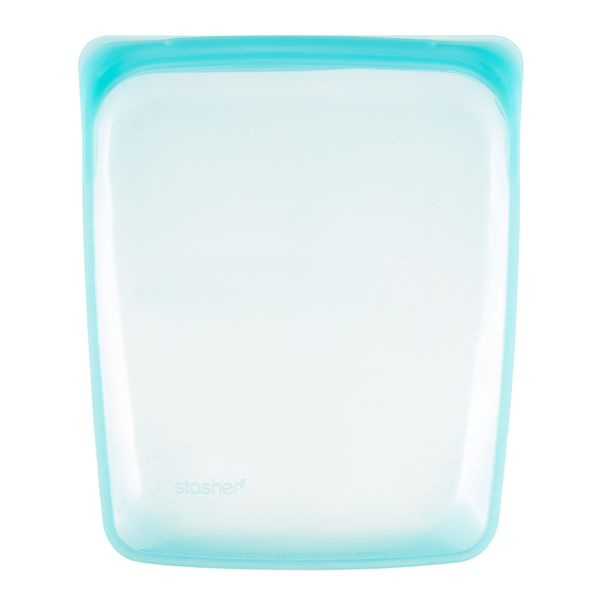 Stasher Aqua Half-Gallon Silicone Reusable Storage Bag