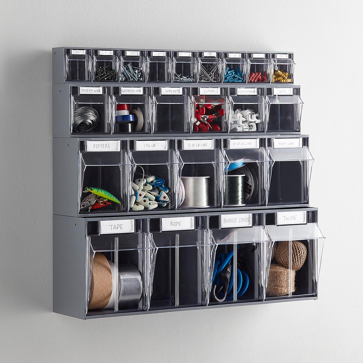 Stackable Tip-Out Bin Organizers