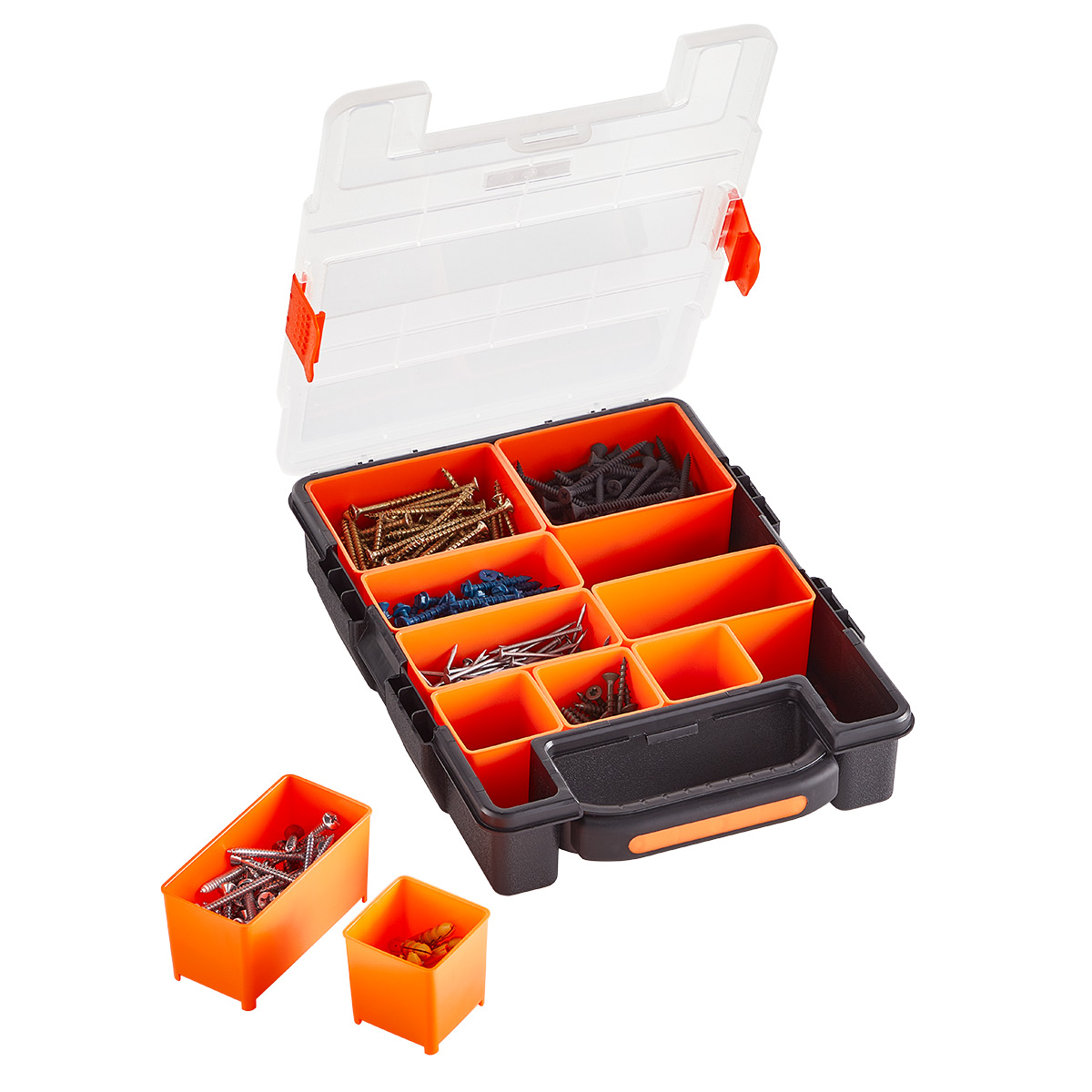 Small Parts Organizer with Removable Bins