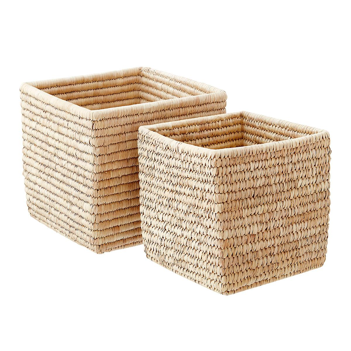 Palm Leaf Storage Cubes