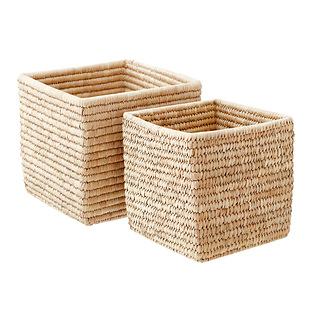 Palm Leaf Storage Cubes