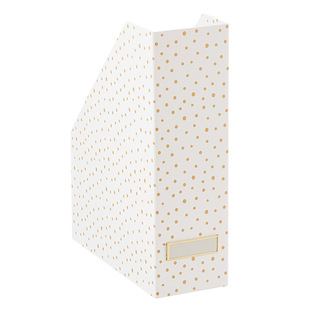 Bigso Gold Dots Stockholm Magazine Holder