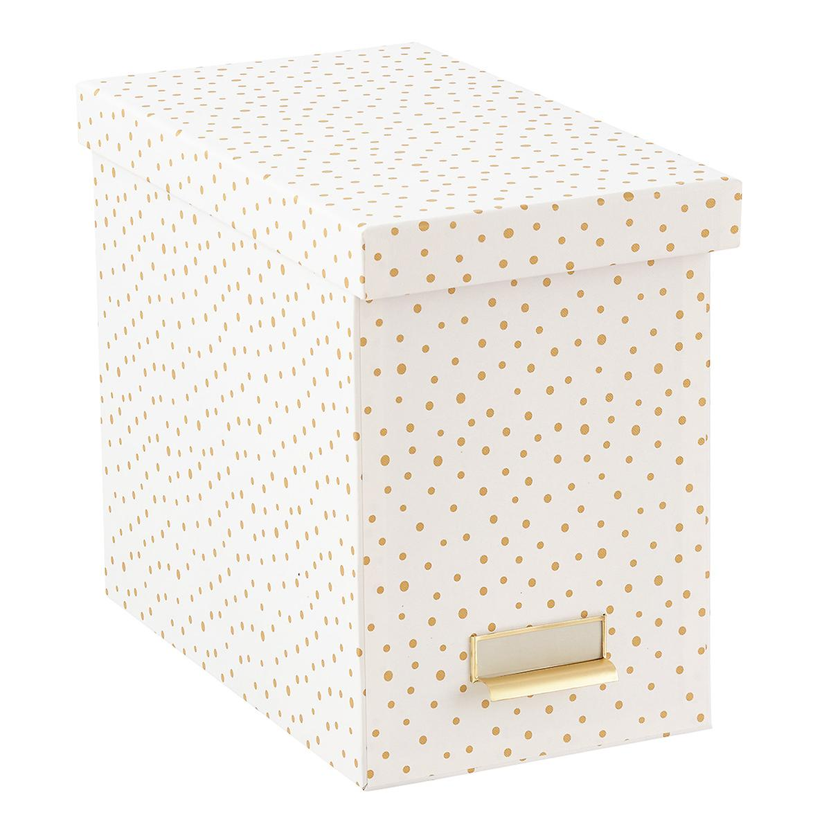 Bigso Gold Dots Stockholm Desktop File