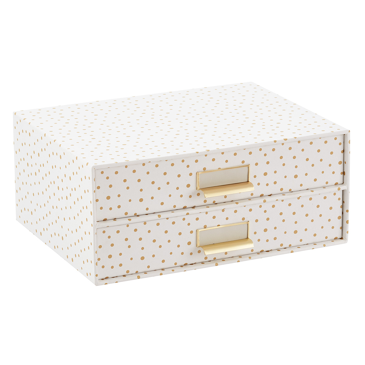 Bigso Gold Dots Stockholm Paper Drawers