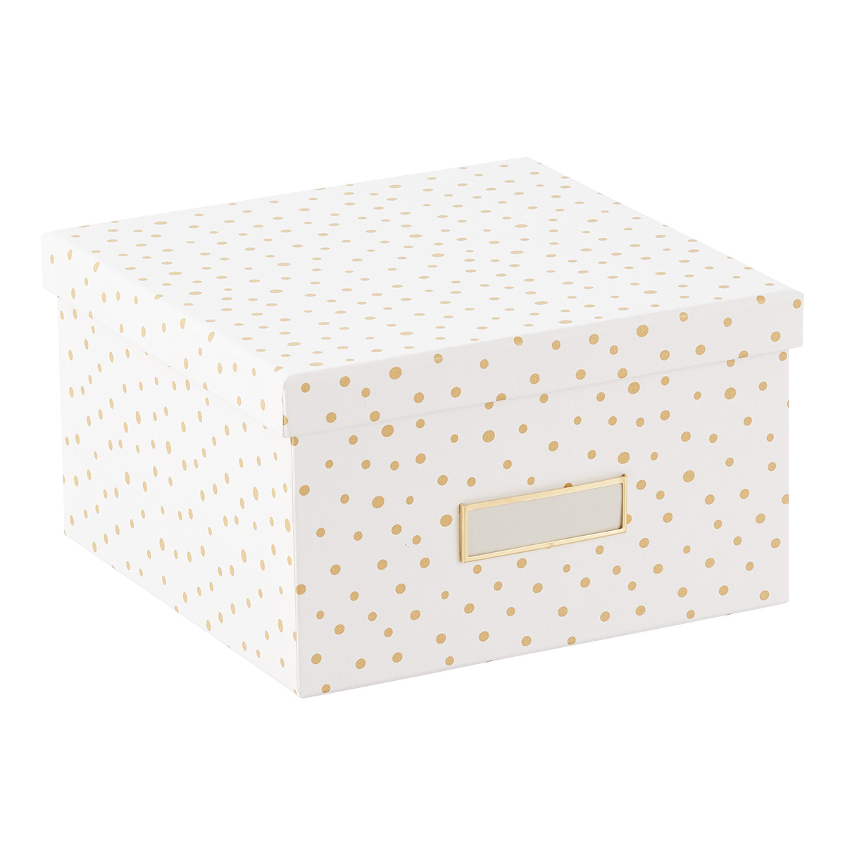 Bigso Gold Dots Stockholm Photo Storage Box