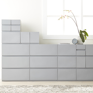 Grey Opaque Modular Stackable Drawers