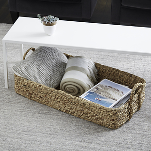Water Hyacinth Natural Weave Coffee Table/Under Bed Bin