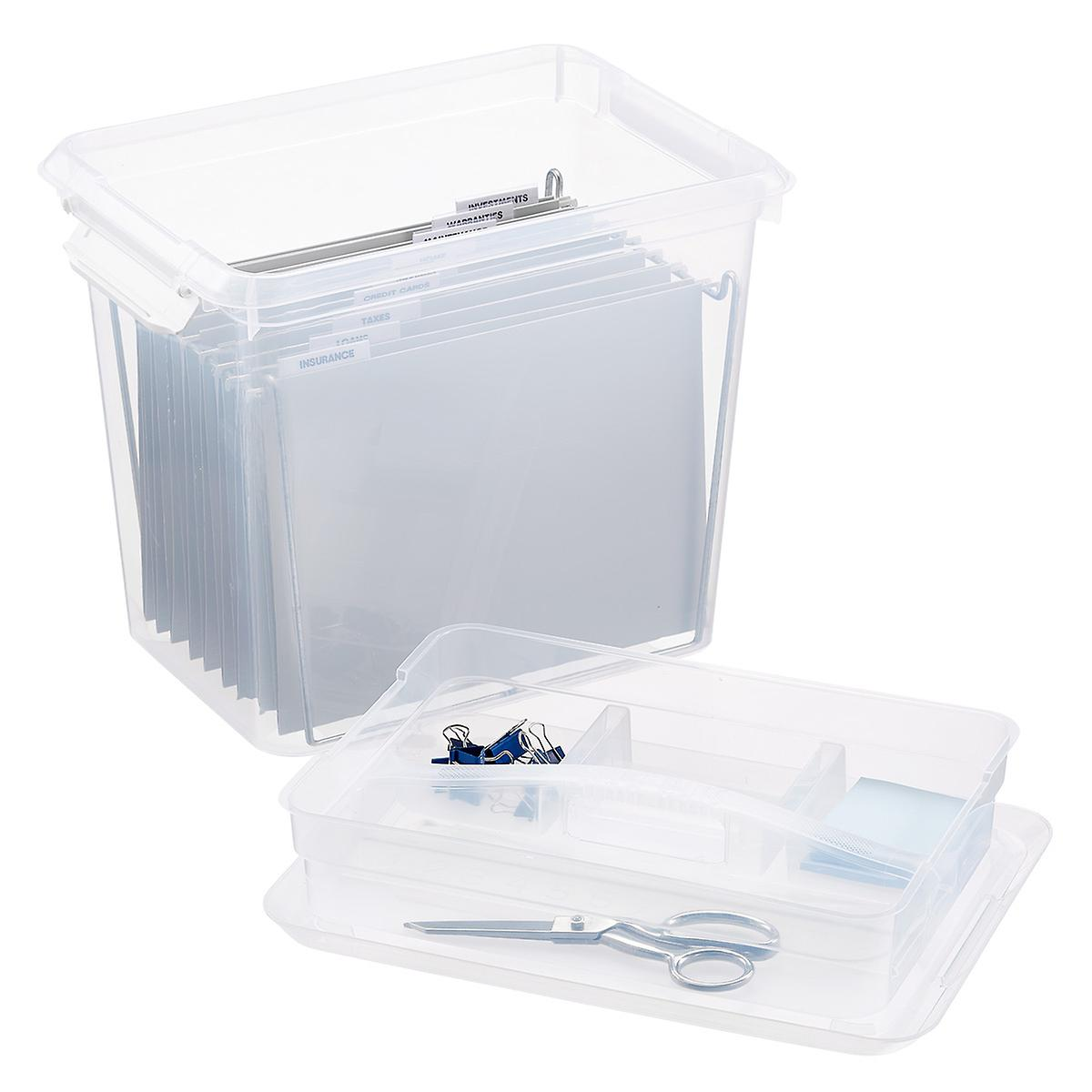 Organizer Tote Boxes with Accessory Trays