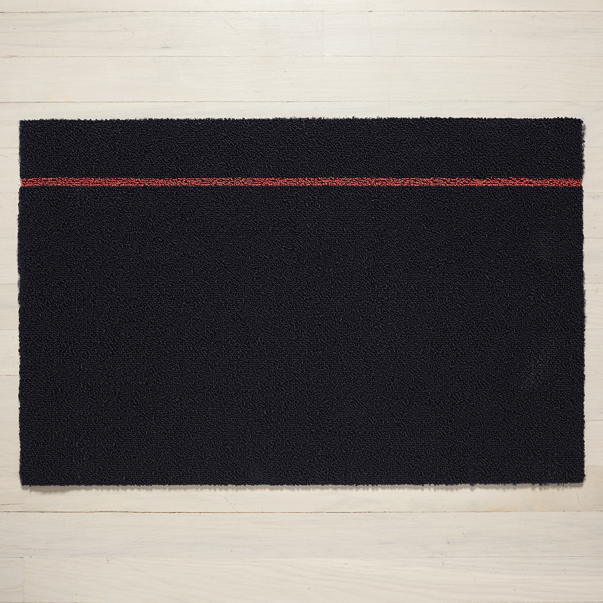 Chilewich Navy & Coral Simple Stripe Door Mat