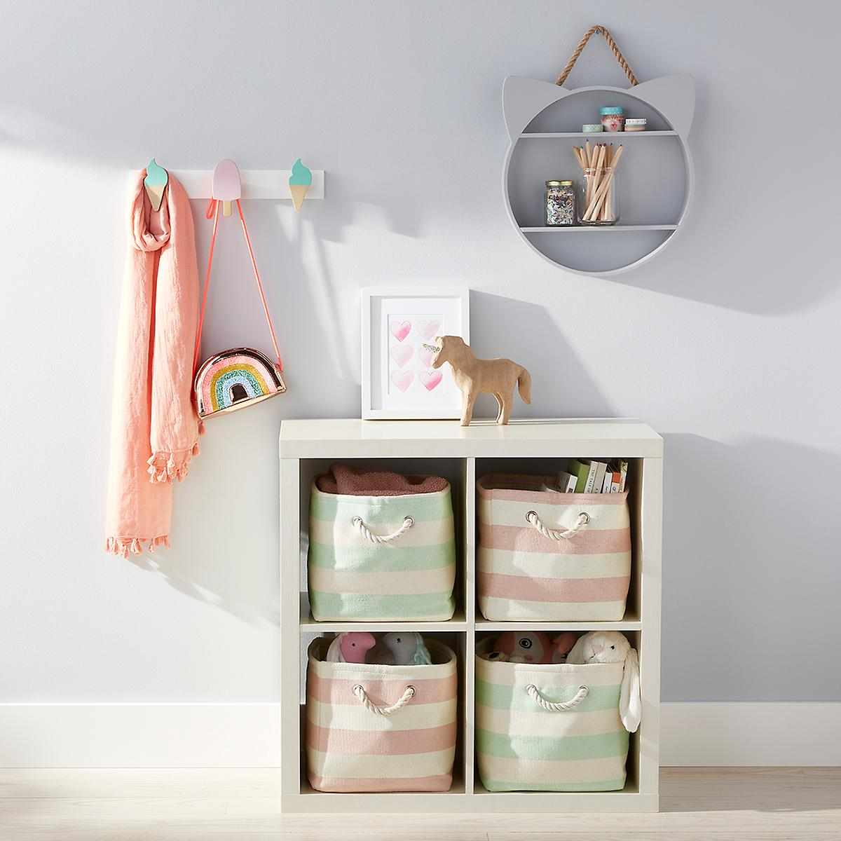Purrfectly Sweet Hooks & Rugby Cubby Starter Kit