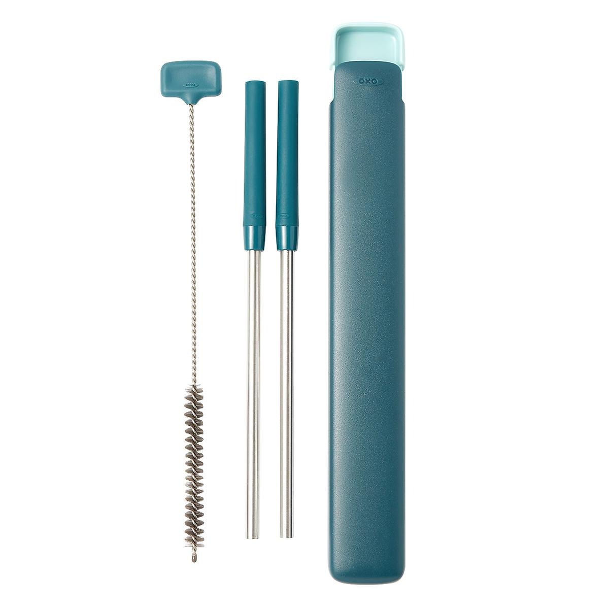OXO Extendable Straw Set with Case