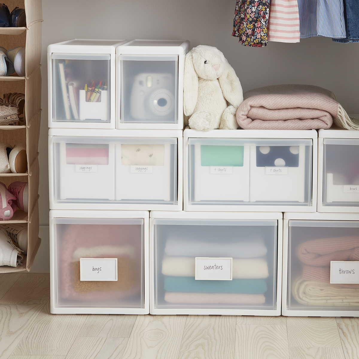 Like-it White Modular Drawers