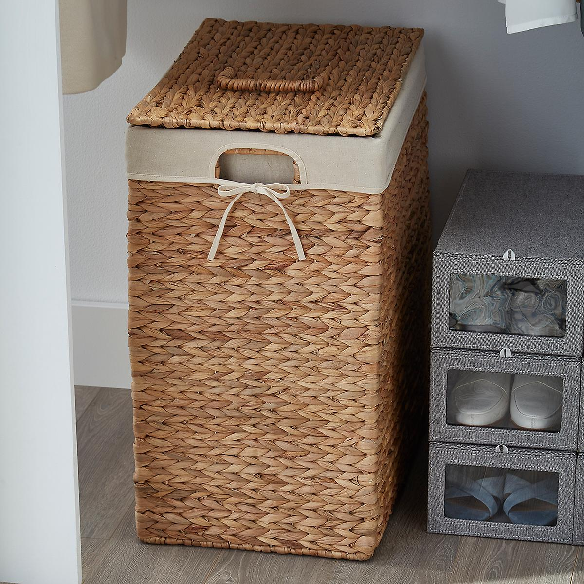 Rectangular Water Hyacinth Hamper