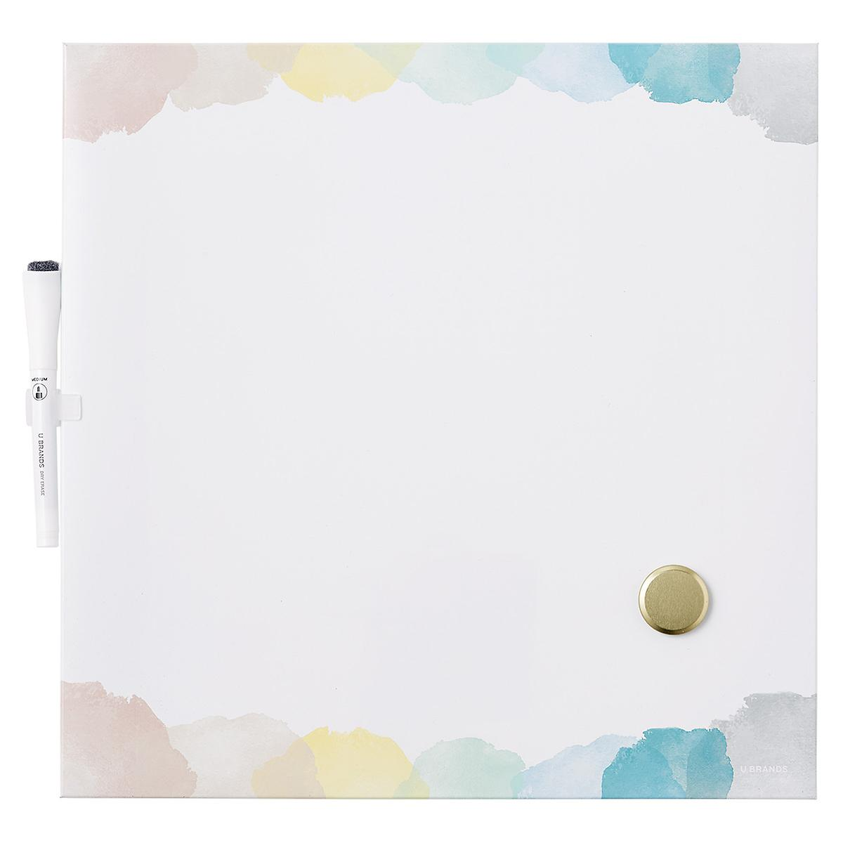 U-Brands Rainbow Square Dry Erase Board