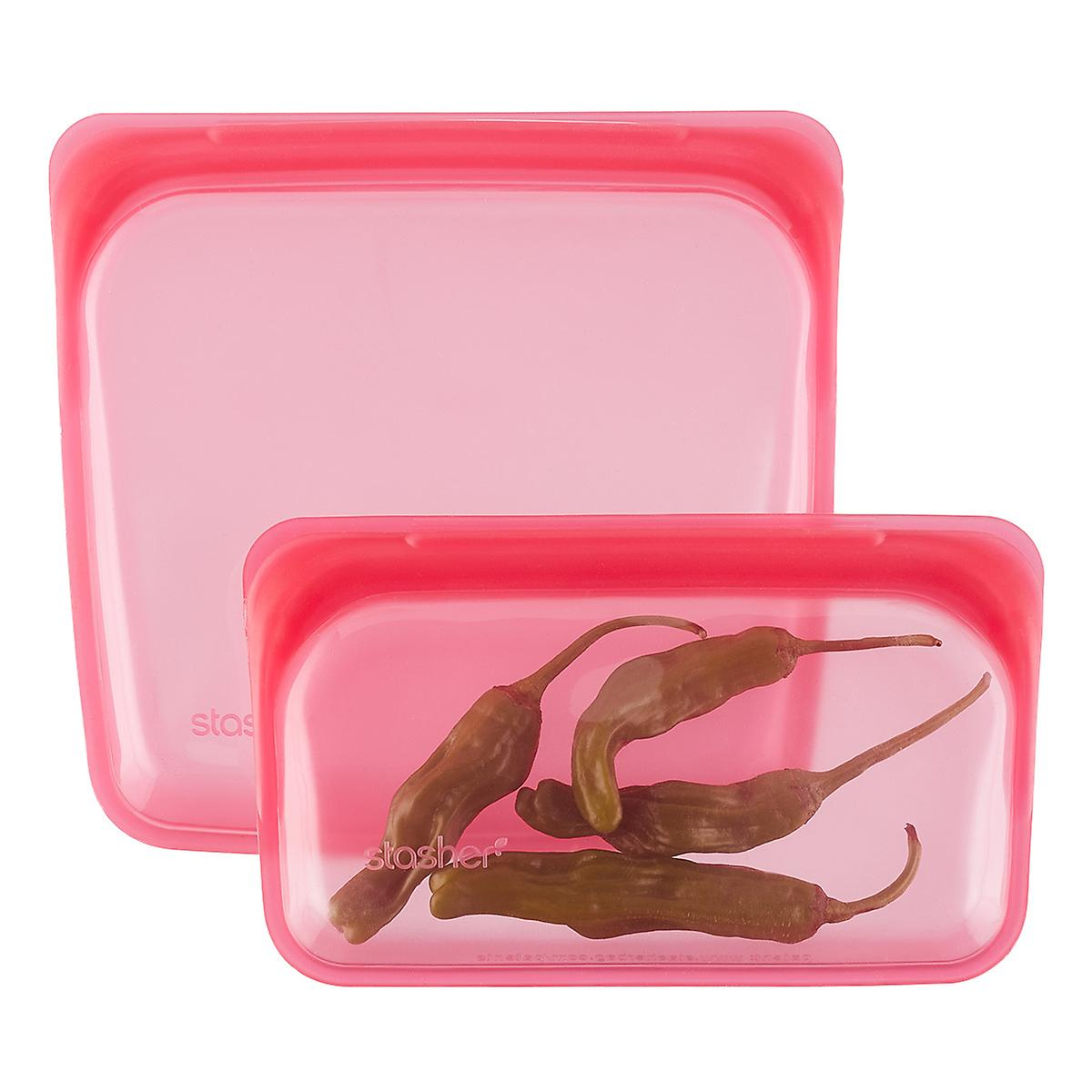 Stasher Raspberry Silicone Reusable Storage Bag