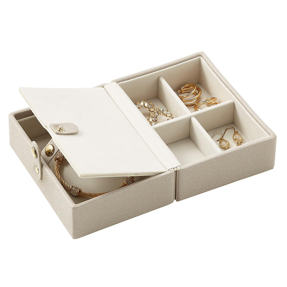 Stackers Taupe Folding Travel Jewelry Storage Tray