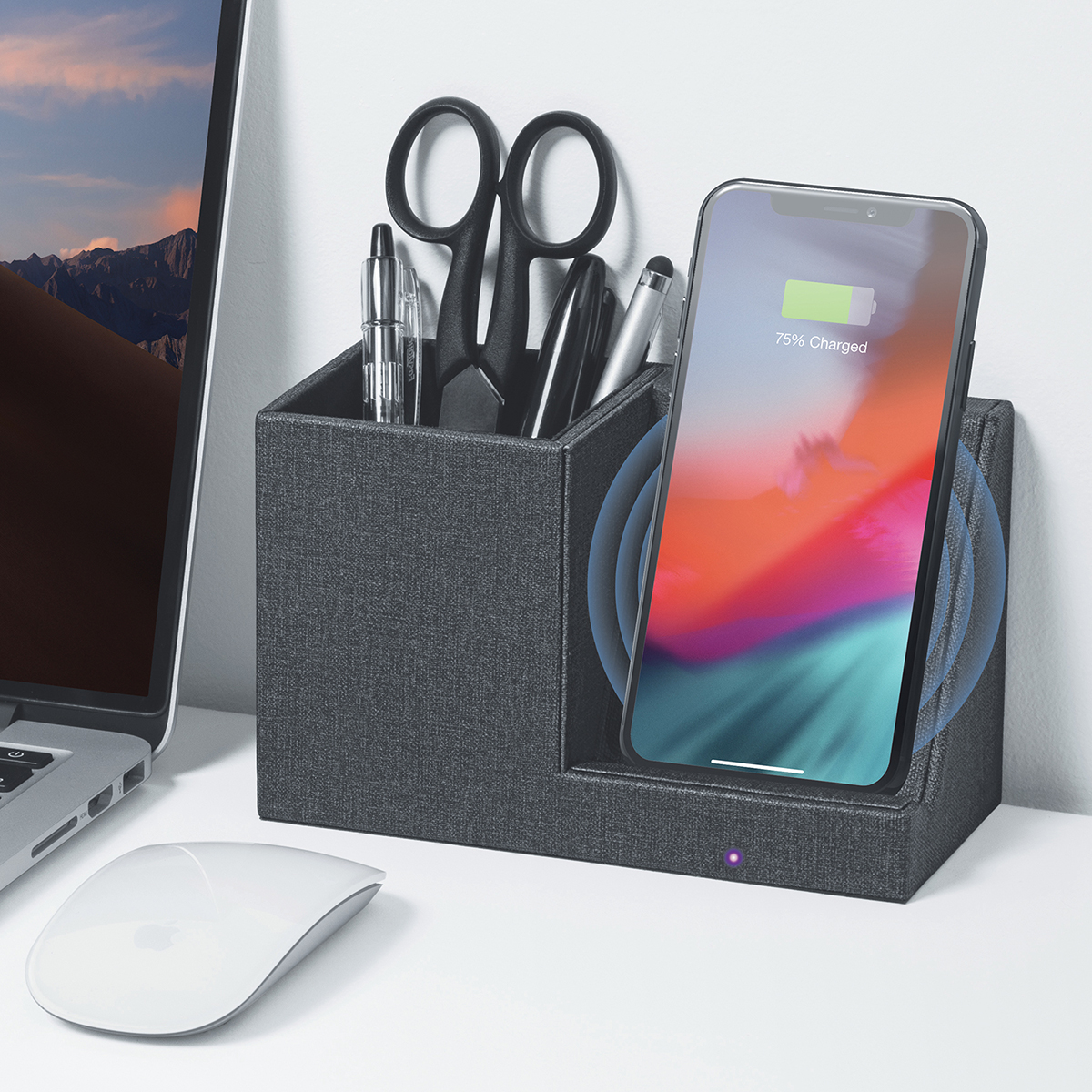 Power Pen Holder with Wireless Charger