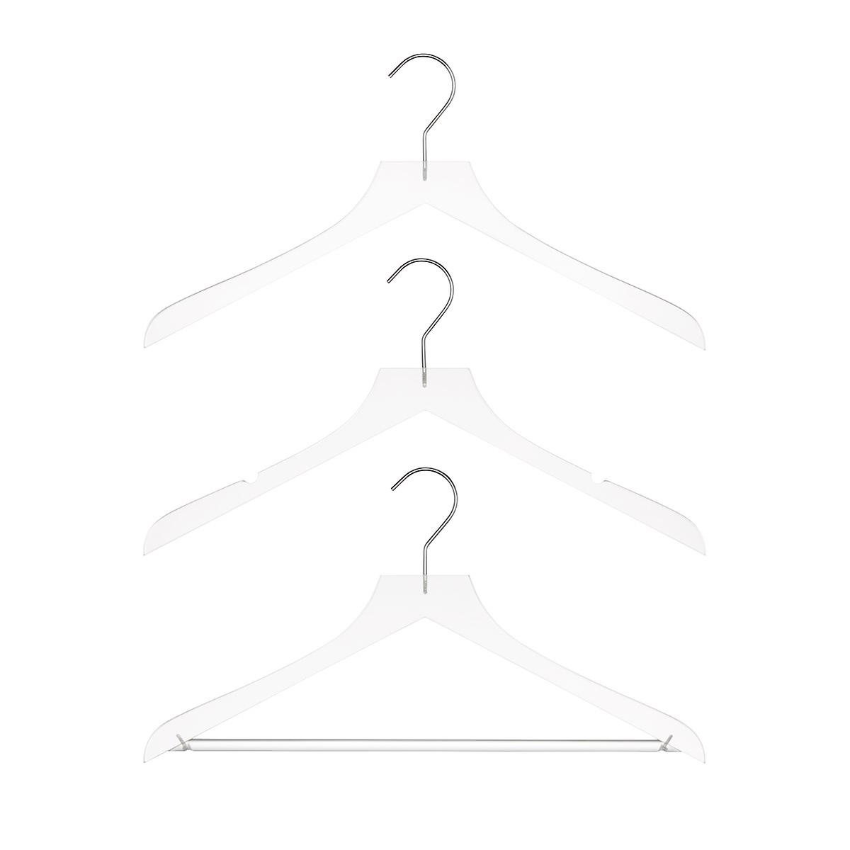 Frosted Acrylic Shirt & Blouse Hangers