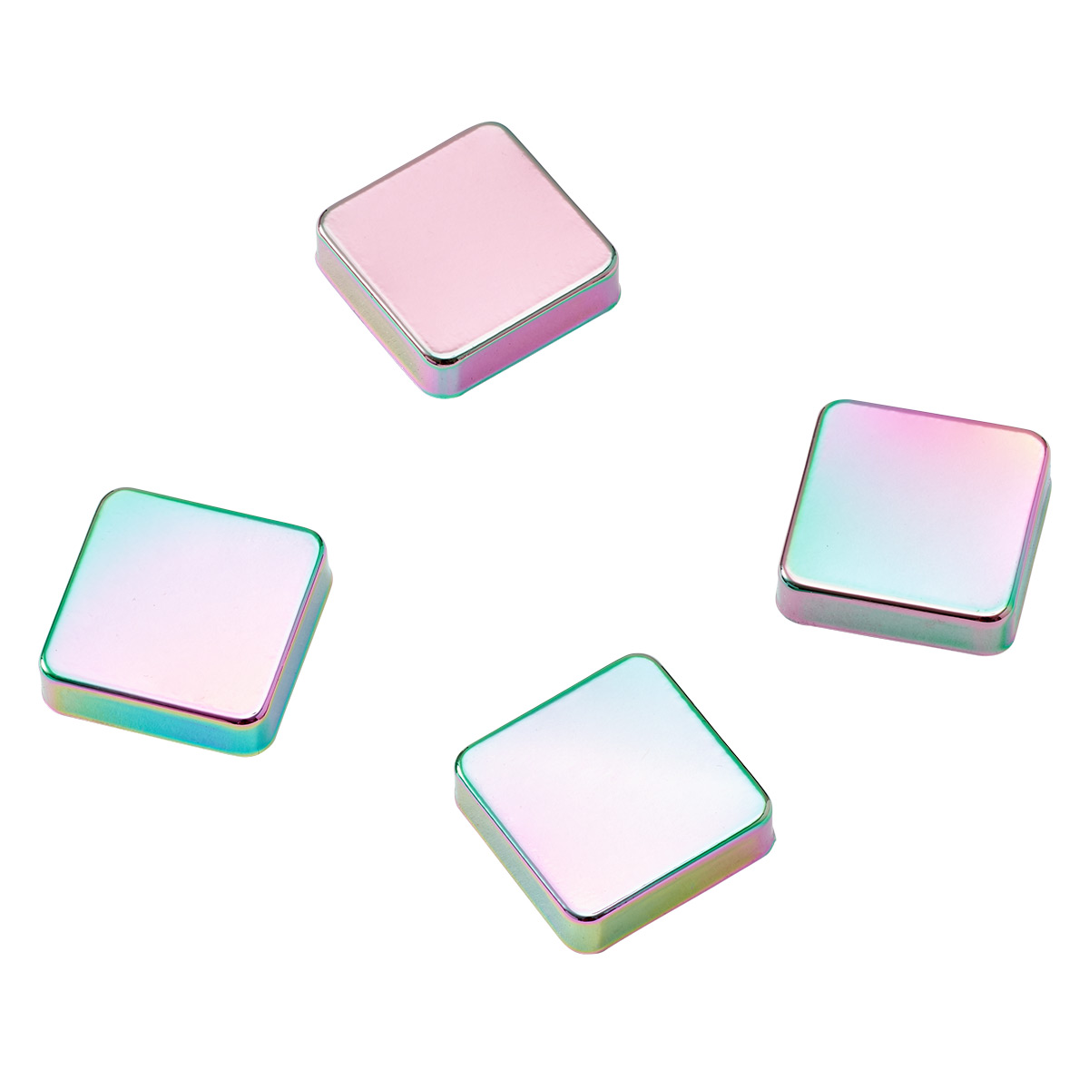 Three by Three Iridescent Snap! Strong Magnets