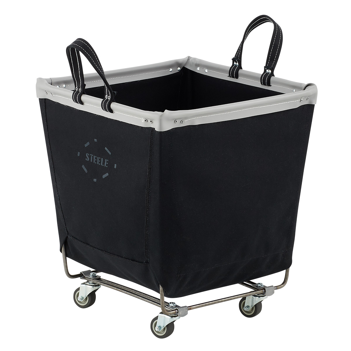 Steele Canvas Black Laundry Cart