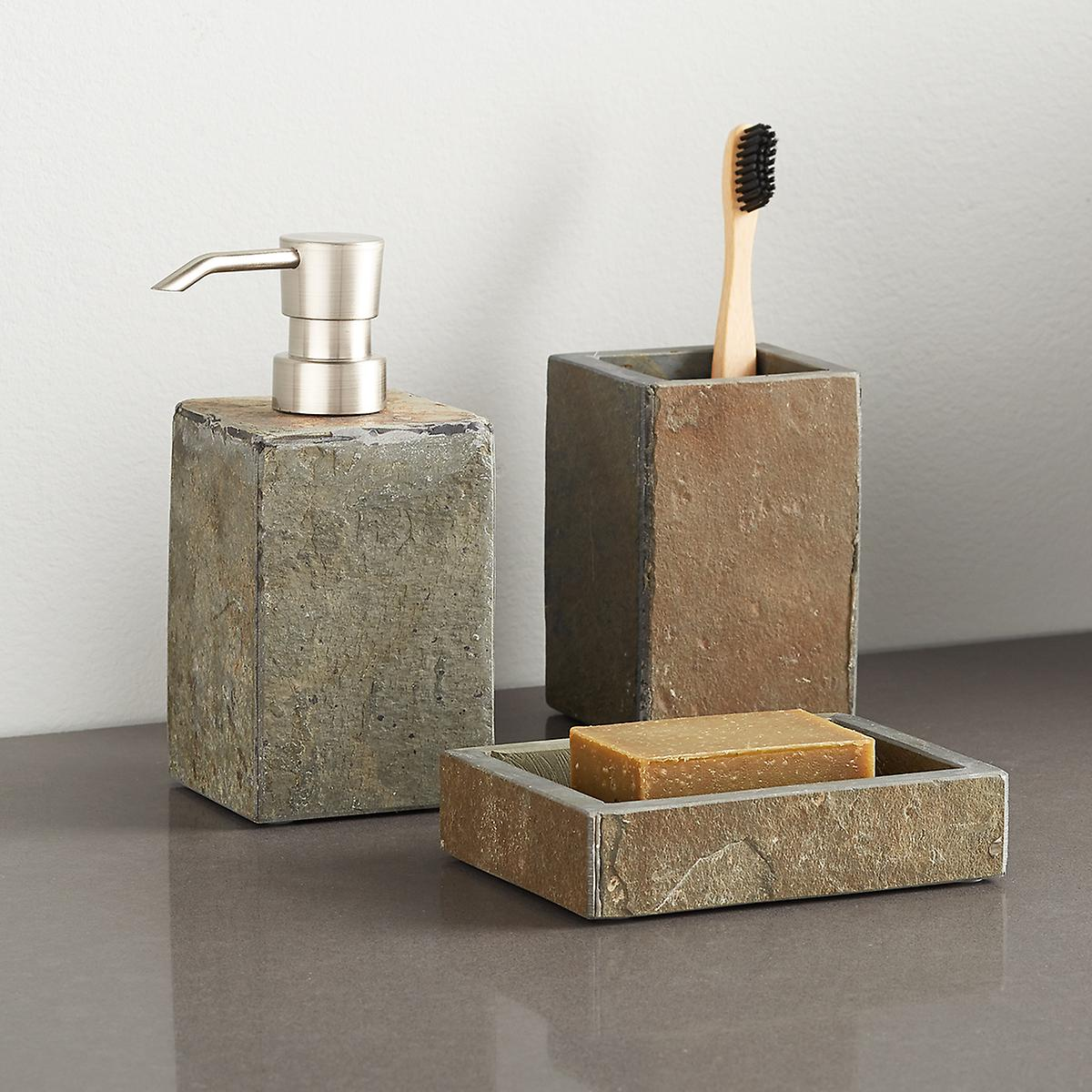 Slate Bathroom Accessories Sets