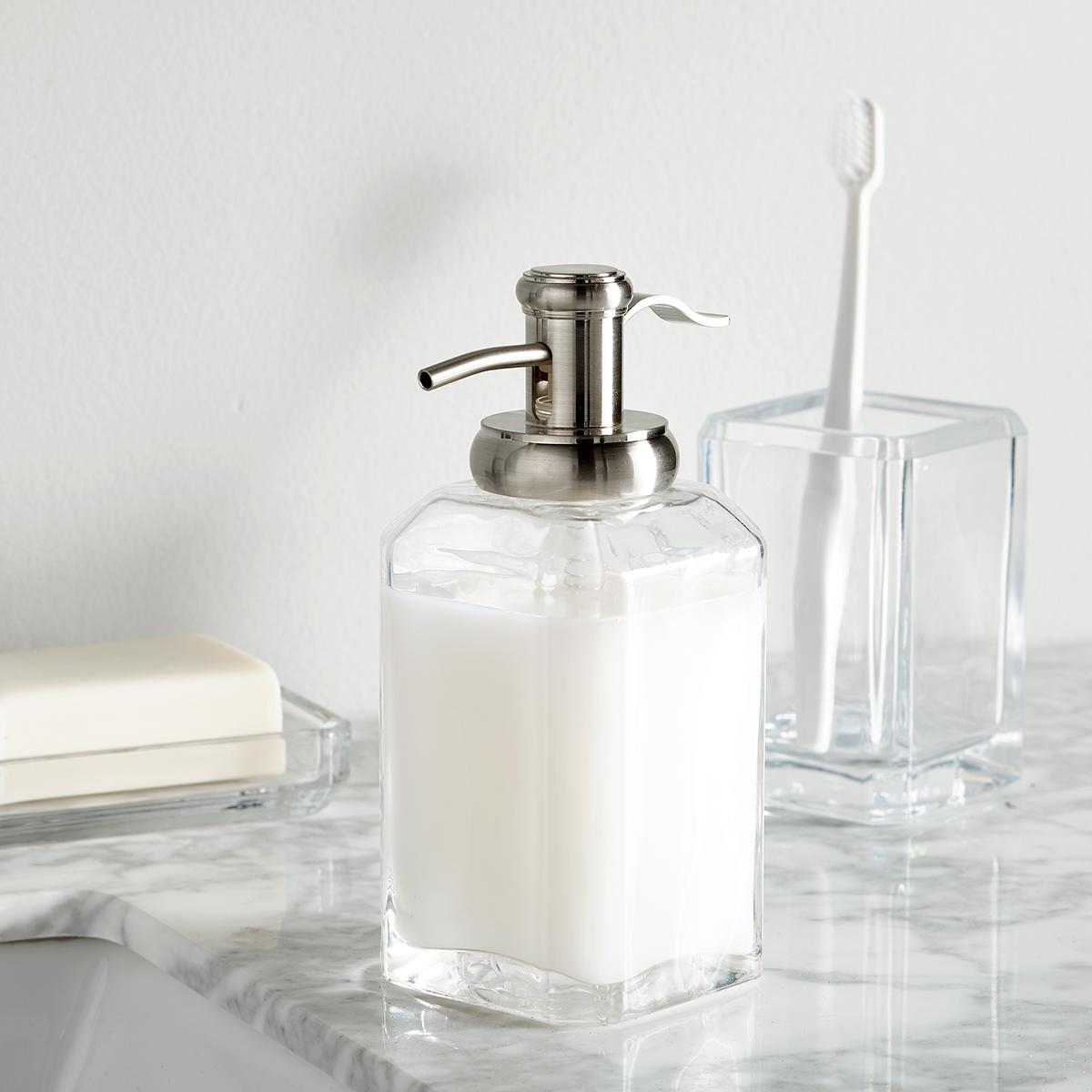 Clear Glass Countertop Bathroom Set