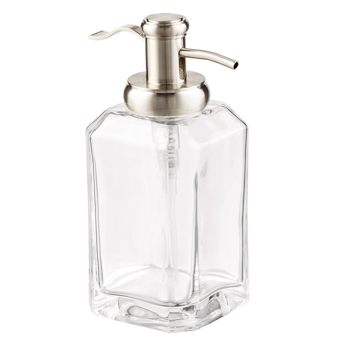 11.5 oz. Clear Glass Soap Dispenser