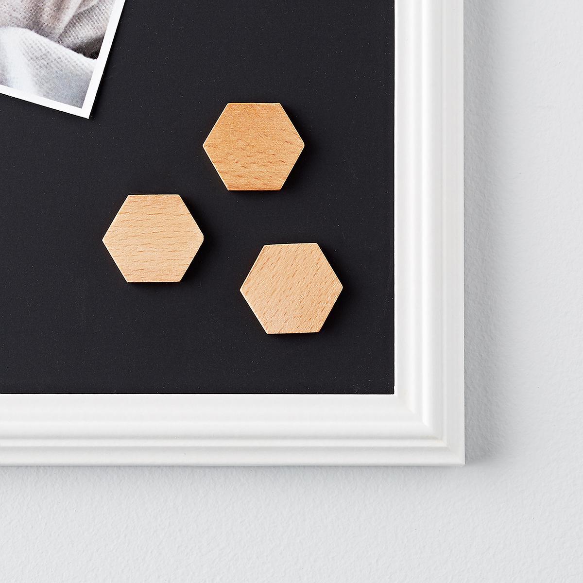 Wooden Hexagon Magnets
